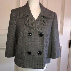 Houndstooth double breasted short jacket jones ny